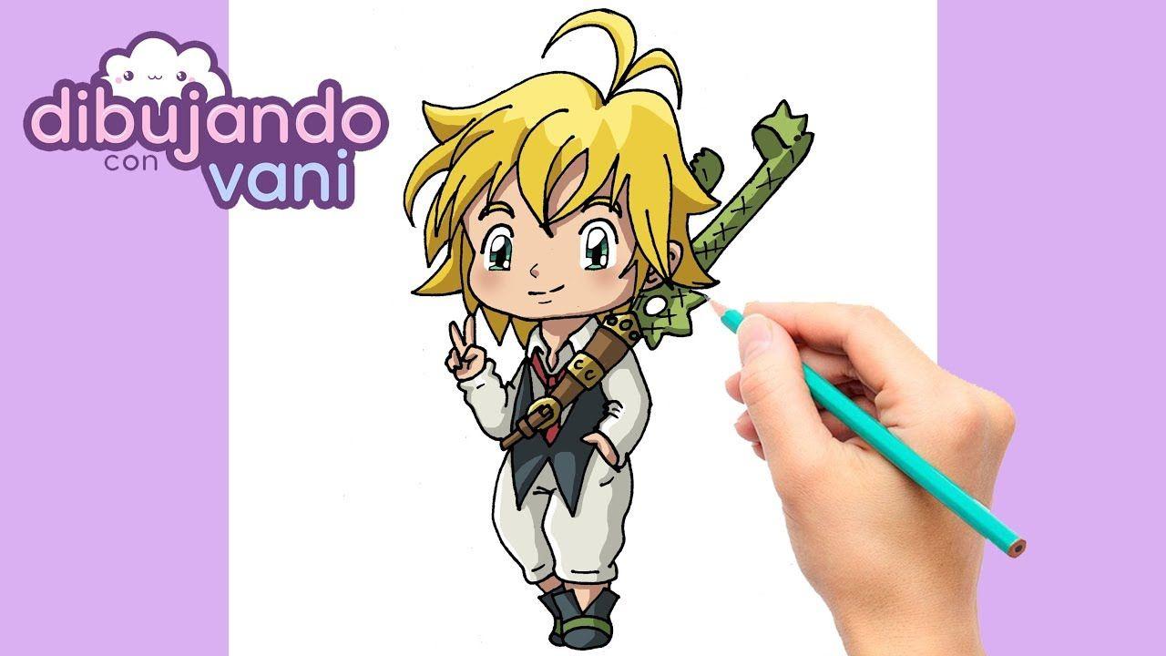 Como Dibujar A Meliodas Kawaii Dibujos Imagenes Faciles Anime Para Col Dibujos Dibujos Kawaii Dibujos Chibi