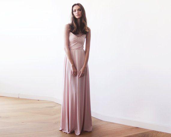Licht Roze Jurk : Blush pink maxi ballerina gown sweetheart neckline blush maxi dress