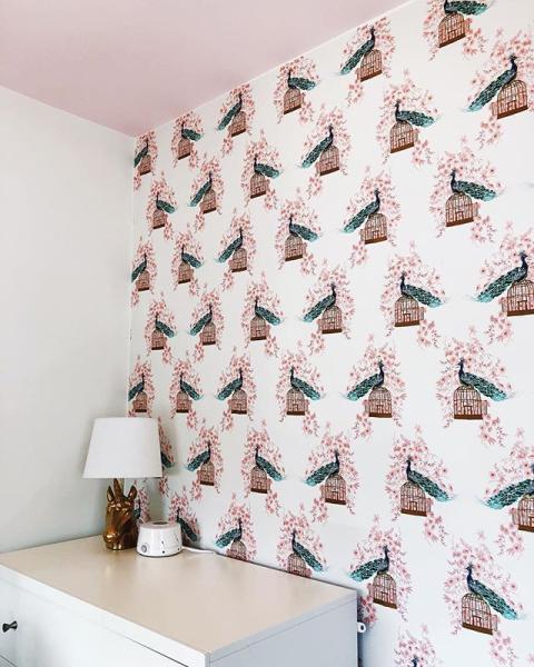Peacock Peel Stick Wallpaper Opalhouse Peel And Stick Wallpaper Neutral Furniture Living Room Update