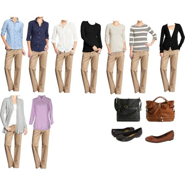 stunning khaki pants outfits for women 18
