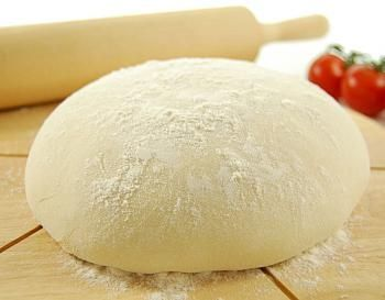 NO YEAST PIZZA DOUGH 2 1/2 c. flour 2 3/4 tsp. baking powder (if using baking soda use half and omit salt) 1 tsp. salt 1 tbsp. oil 3/4 to 1 c. water Mix dry ingredients. add 3/4 cup water and oil. Stir until it forms a ball. If dough is stiff, add more water. The dough will be soft, not sticky. Knead on a floured surface for 3-4 minutes. Bake at 400F for 15-25 minutes. #dough #homemade #pizza #pizza recipes dough #without #yeast
