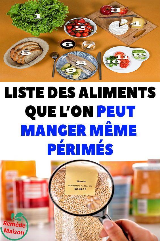 Liste des aliments que l'On peut manger même périmés (avec ...