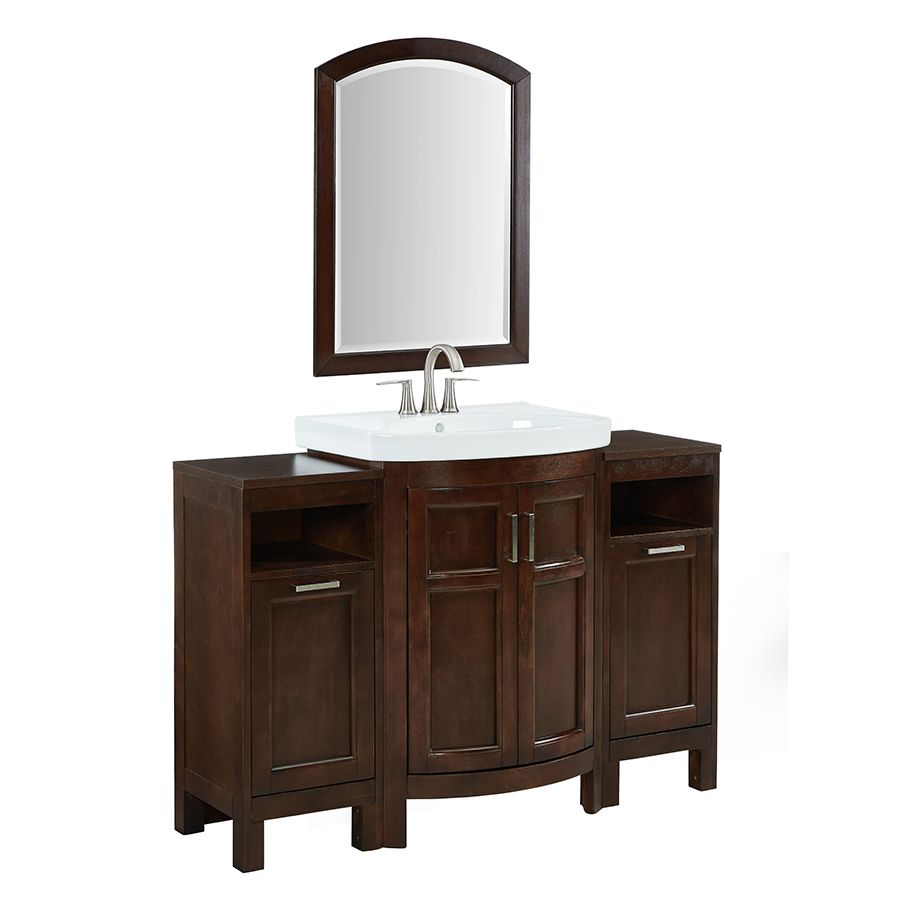 Style Selections Morecott 22 In Chocolate Arch Bathroom Mirror
