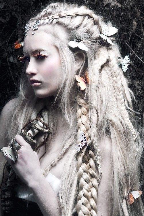 White Dreaded Fairy Hair Colors Ideas Fairy Hair White Dreads Fantasy Hair