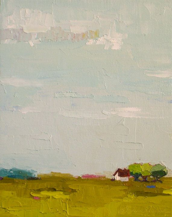 Gift To Be SImple VII Oil Painting Farm Landscape Farmhouse Via