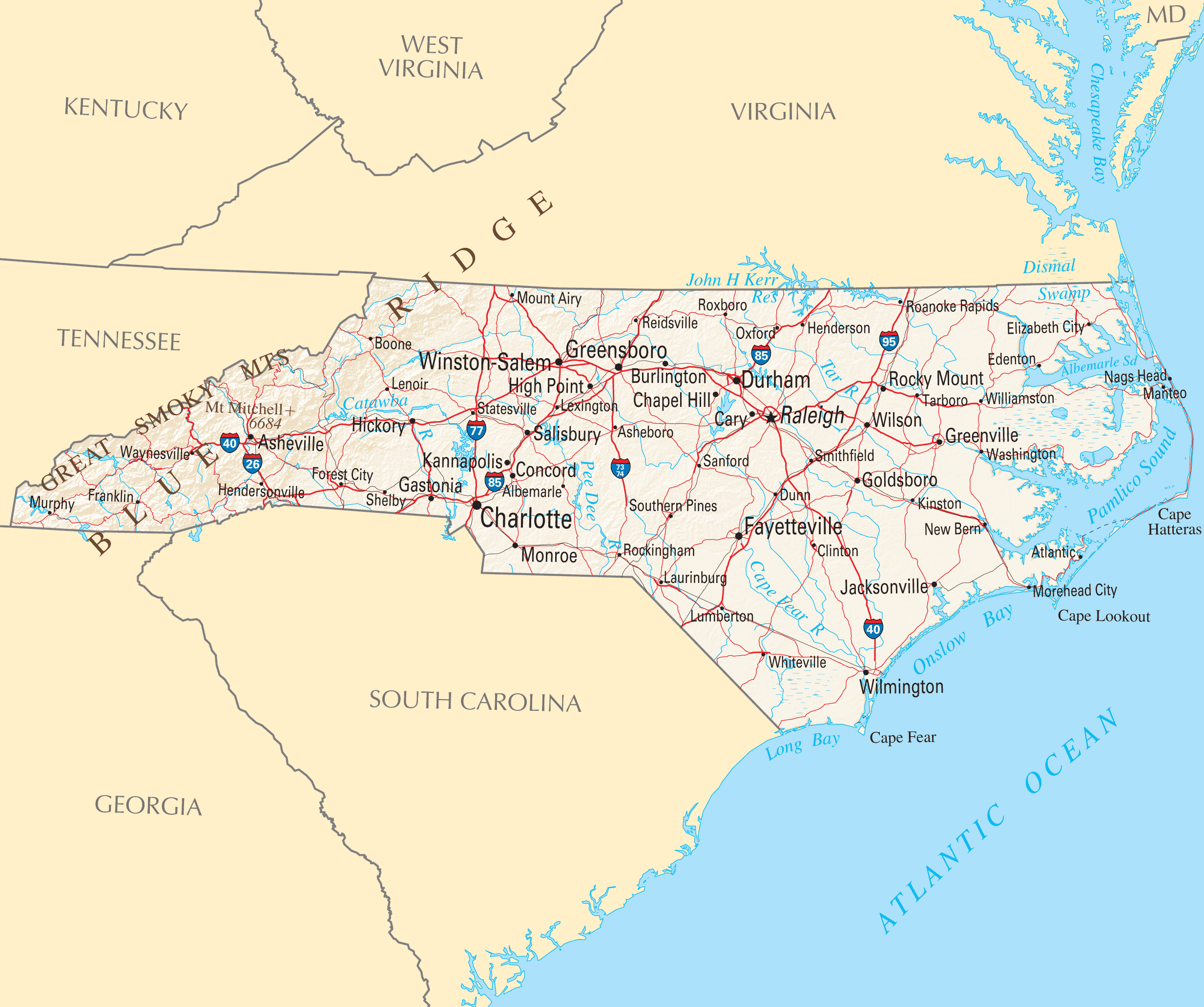 Image Result For Nc Map