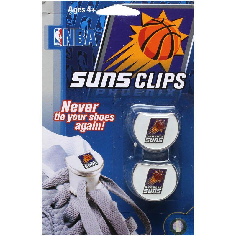 Phoenix Suns Shoe Lace Clips - White