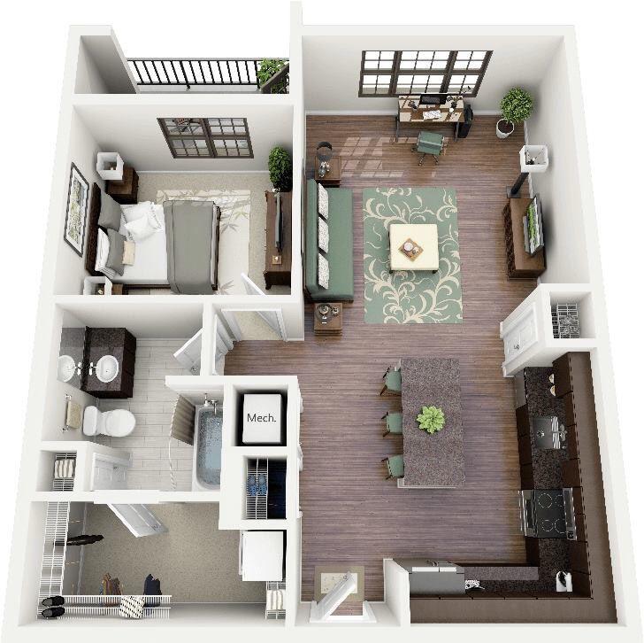 One Bedroom Apartment Home Design Plans Credit Oryxre Oryxre Com