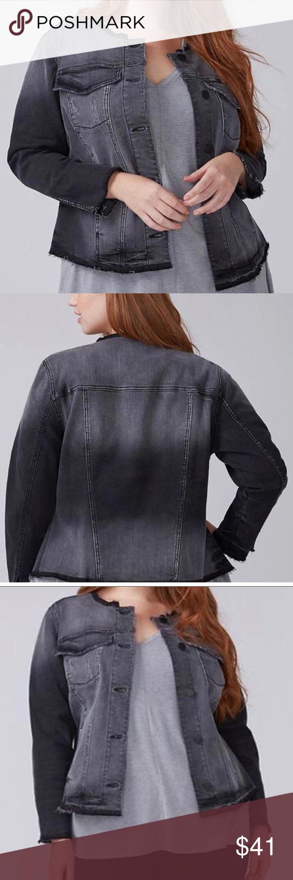 Lane Bryant Sz 28 Nwt Faded Black Denim Jacket Denim Jacket Black Denim Jacket Black Denim [ 1740 x 580 Pixel ]