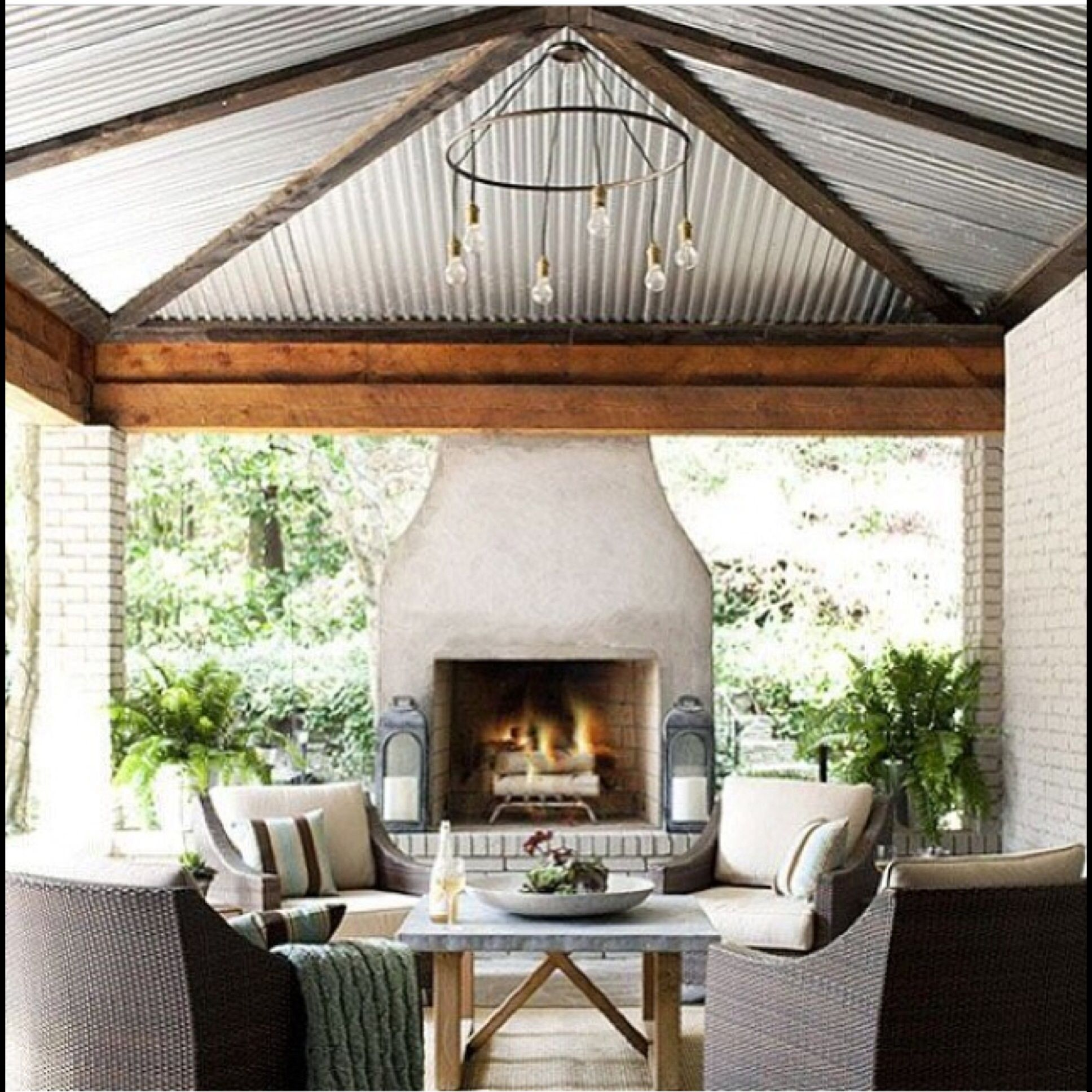Garden Seating Ideas For Your Outdoor Living Room: Outdoor Fireplace Designs, Outdoor Living
