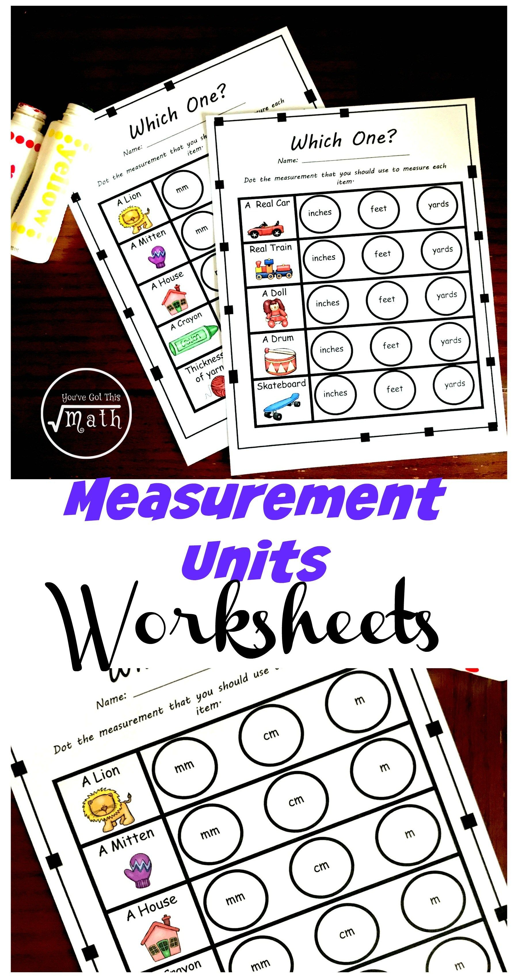 Four Measurement Tools Worksheets To Practice Choosing