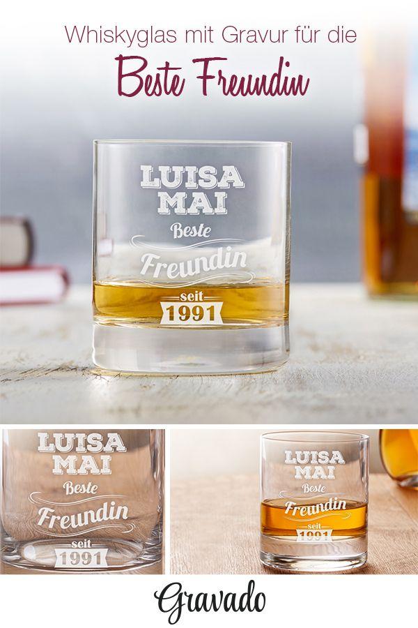 whiskyglas mit gravur vintage beste freundin personalisiert whiskygl ser tolle. Black Bedroom Furniture Sets. Home Design Ideas