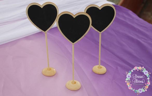 love heart black boards