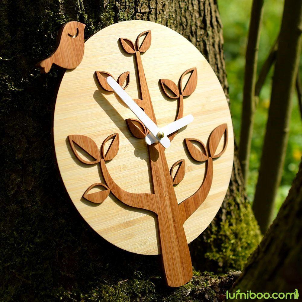 Pin by Lumiboo on Bird on the Tree Wall Clock | Pinterest | Bamboo ...