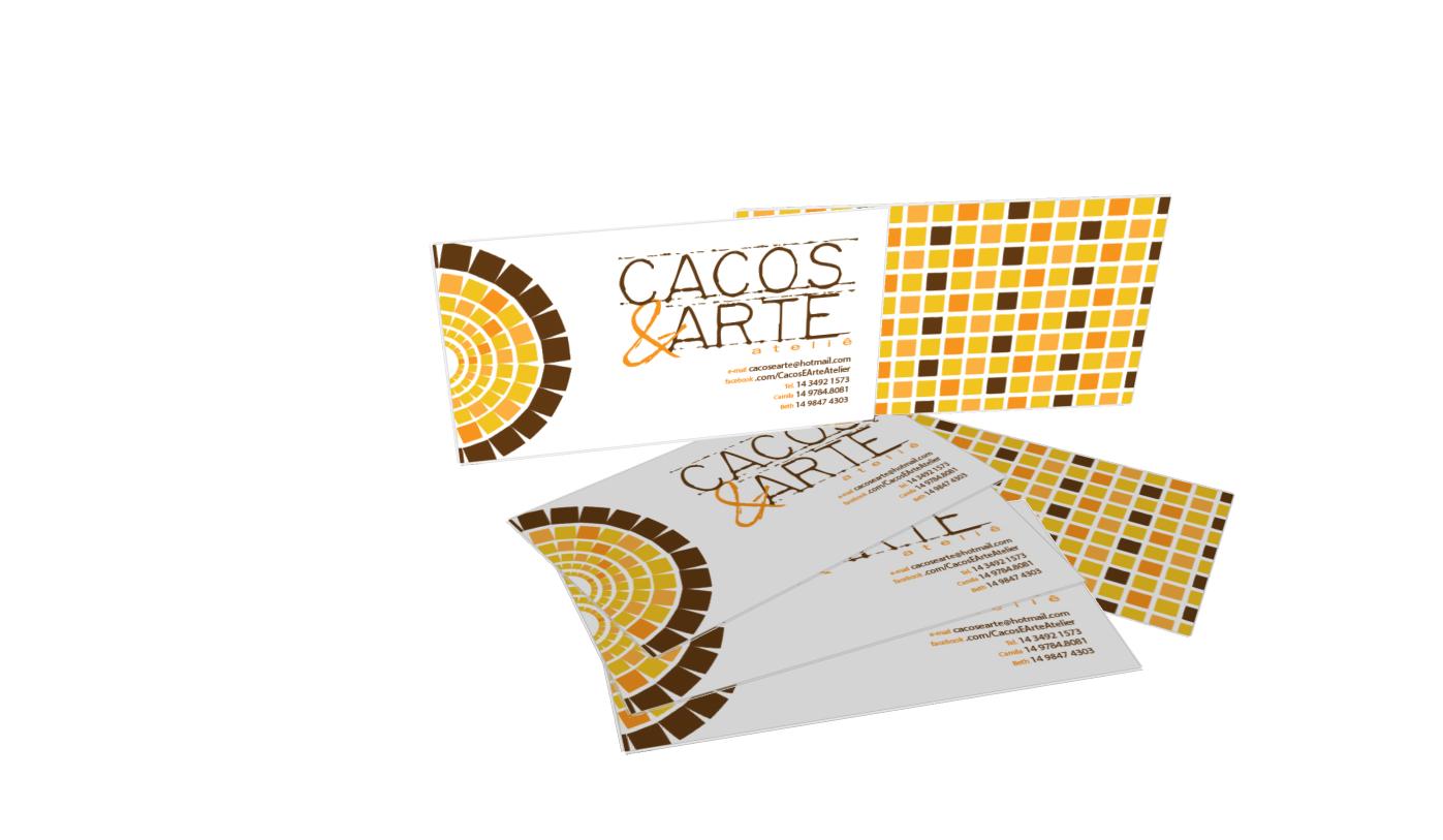Cartões de visita - Cacos & Arte Ateliê