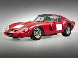 1962-64 Ferrari GTO Berlinetta.  These former italian race cars are among the most expensive in the world.  Recently at auction, a 1962-1963 GTO sold for 38 million dollars setting a world record for the most expensive car ever sold.