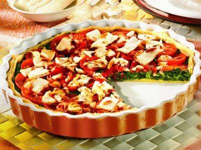 Quiche mit Spinat und Tomate | Rezept | DEUTSCHE KÜCHE