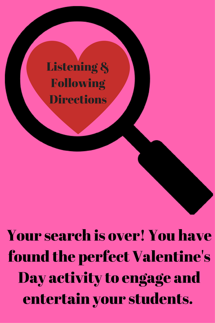 Listening & Following Directions Valentine's Day Edition +