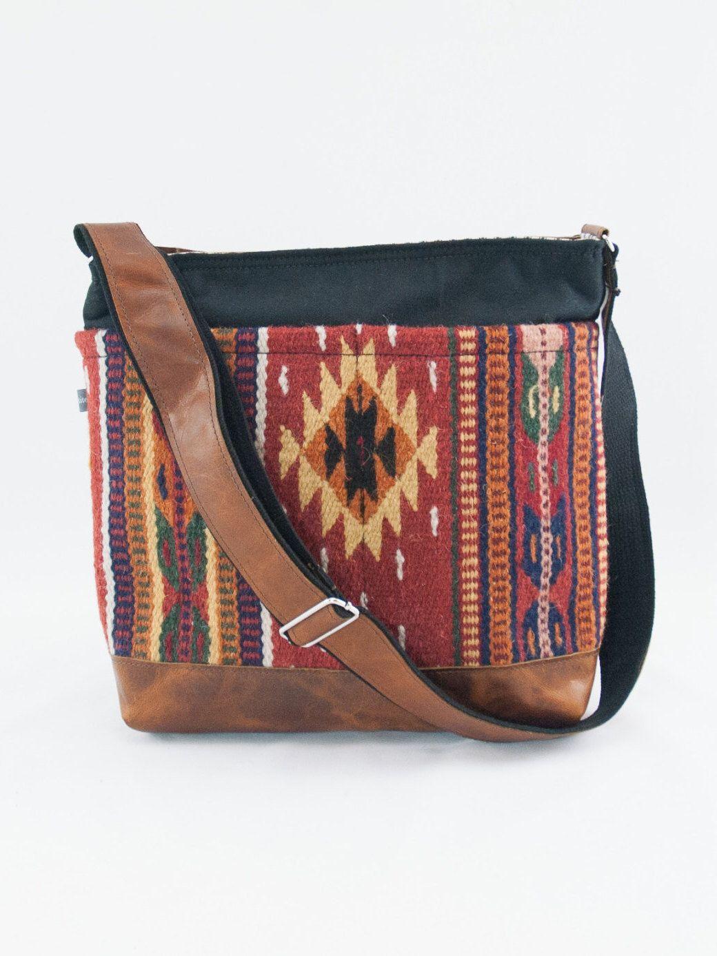 Small Batch Jane Crossbody Diaper Bag In Wool Saddle Blanket Orange By Ee On Etsy