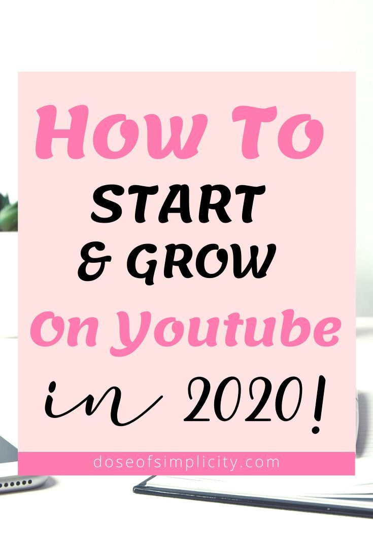 Learn how to start and grow your Youtube channel in 2020! Video is going to be the way of the future so might as well get started now! If you've been wanting to start a Youtube channel then check out these tips! #youtube #smallyoutubetips #youtubegrowth #growonyoutube #youtubealgorithm2020 #gainyoutubesubscribers #youtubetipsforbeginners