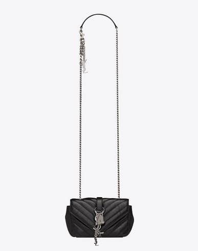 SAINT LAURENT CLASSIC BABY MONOGRAM SAINT LAURENT PUNK CHAIN BAG IN BLACK  MATELASSÉ LEATHER  19e6f7b713f94