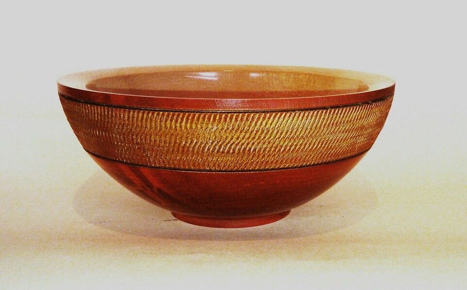 Coloured and textured Sycamore Bowl