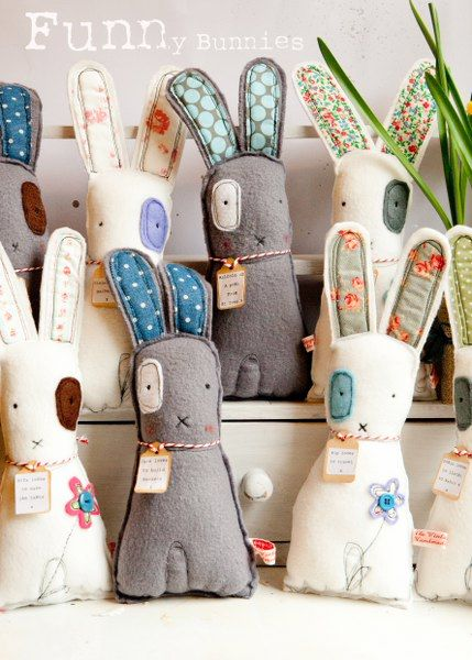 Conejitos lindos. http://thevintagemagpie.typepad.com