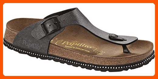 Papillio Women's Gizeh Birko Flor Shell Black Sandals 36 M