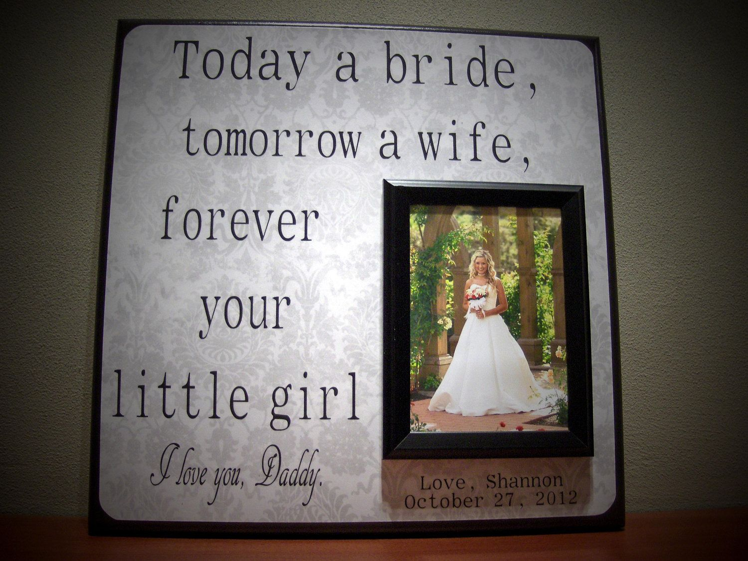 Custom Wedding Thank You Gift for Parents, 12x12 Parent of the Bride ...