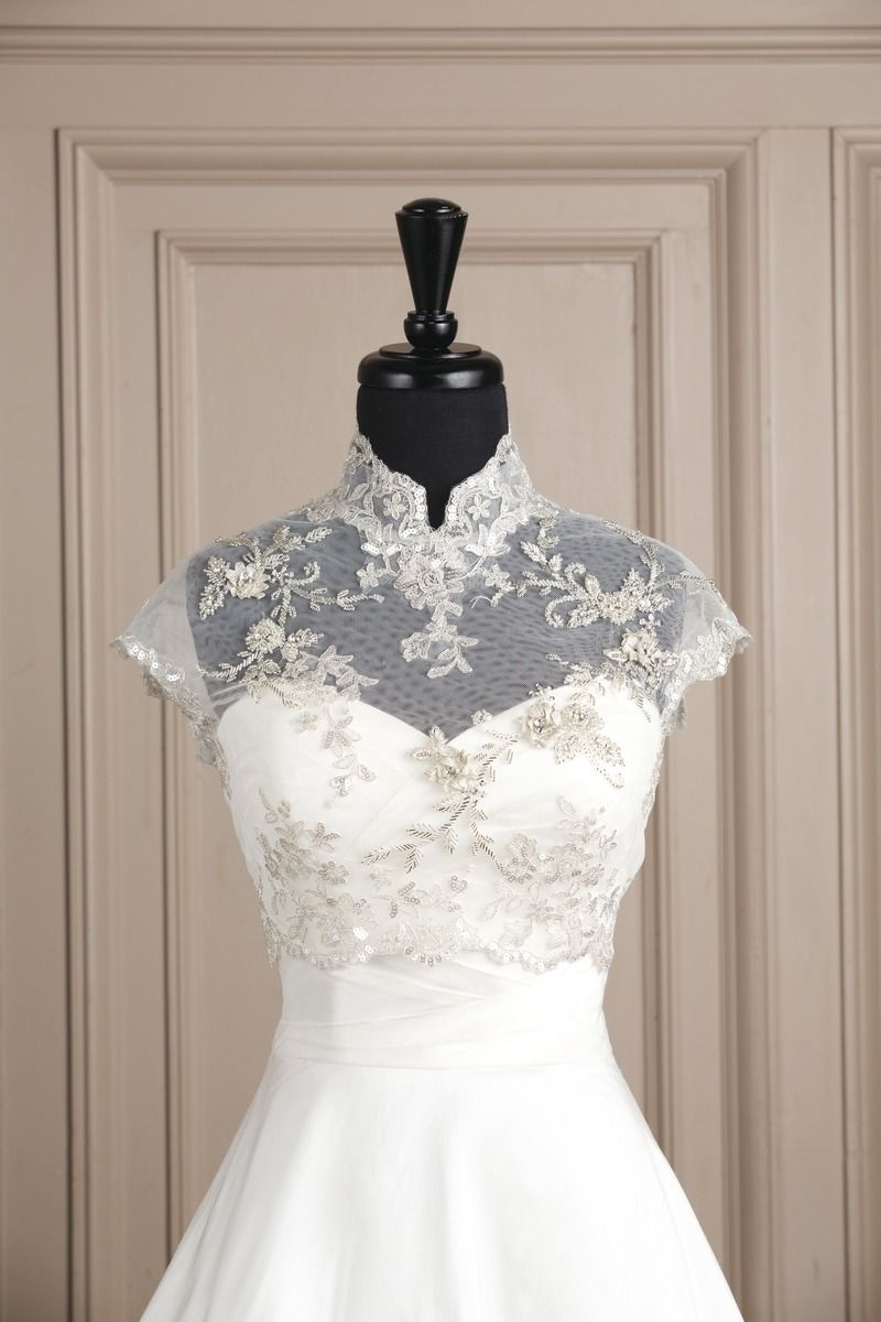 Justin Alexander accessories style A050 Metallic beaded lace and ...