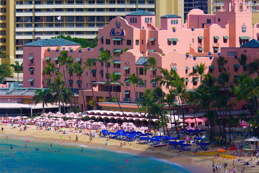 Beach In Front Of The Royal Hawaiian Hotel Waikiki Honolulu Oahu