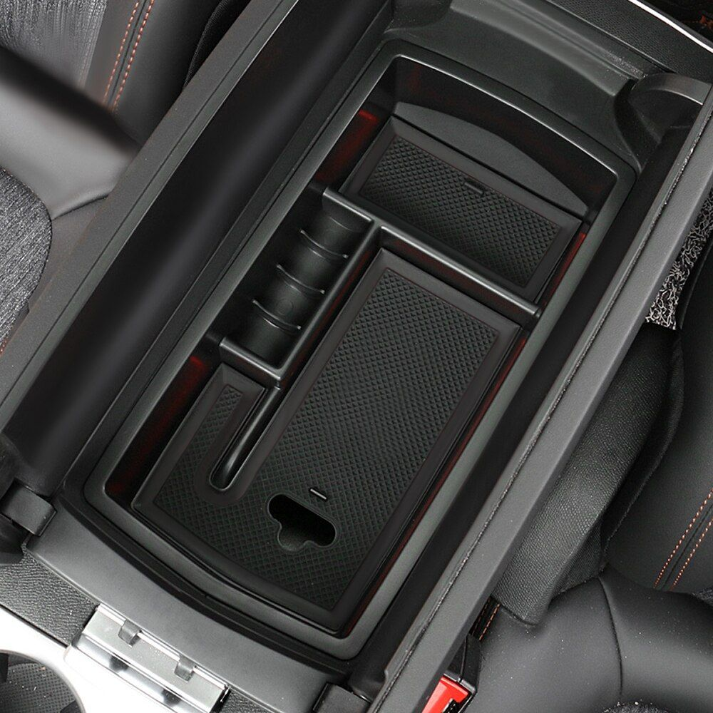 GT Armrest Storage Box Center Console Glove Tray Bin Fit For Peugeot 3008 2017