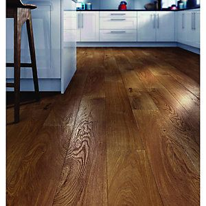 Wickes Golden Harvester Oak Real Wood Top Layer Engineered Wood ...