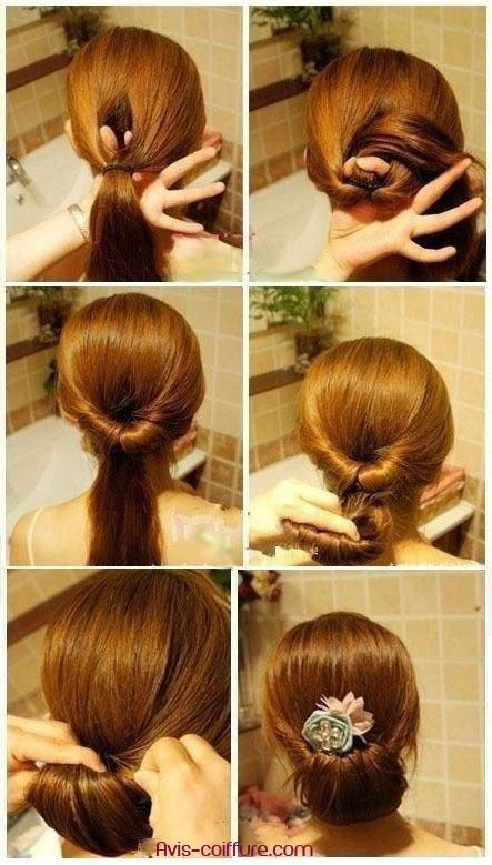 chignon mariage facile avec tutoriel de coiffure