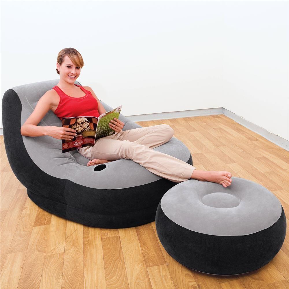Poltrona Ultra Lounge com Pufe (99cm x 130cm x 76cm) com mesa turca (64cm x…