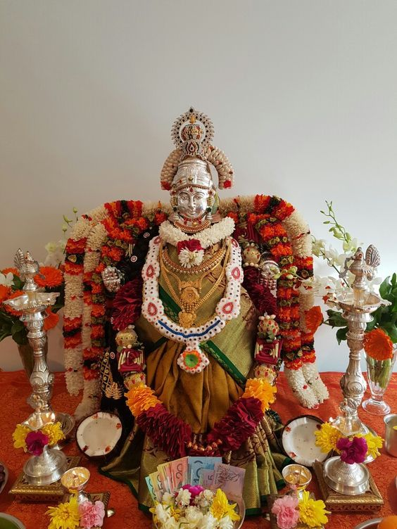 Goddess Decor Image By Vishnu Vishal On Varalakshmi Puja
