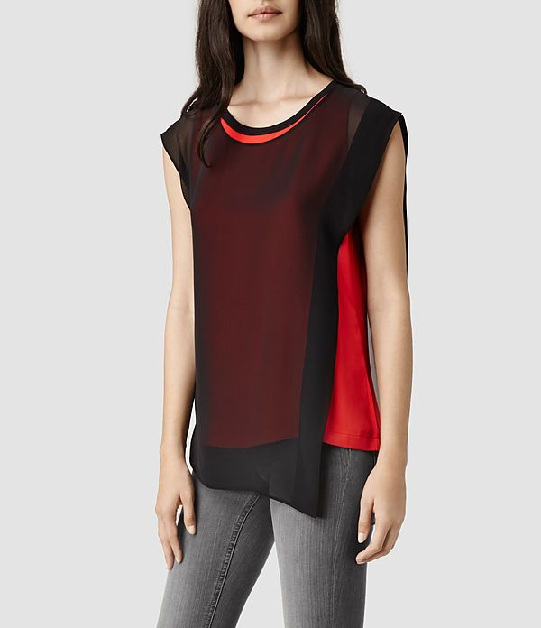 Exclusive Cheap Online Buy Cheap New Styles Sleeveless Top - Red meets Black by VIDA VIDA Outlet Locations For Sale xMXxni