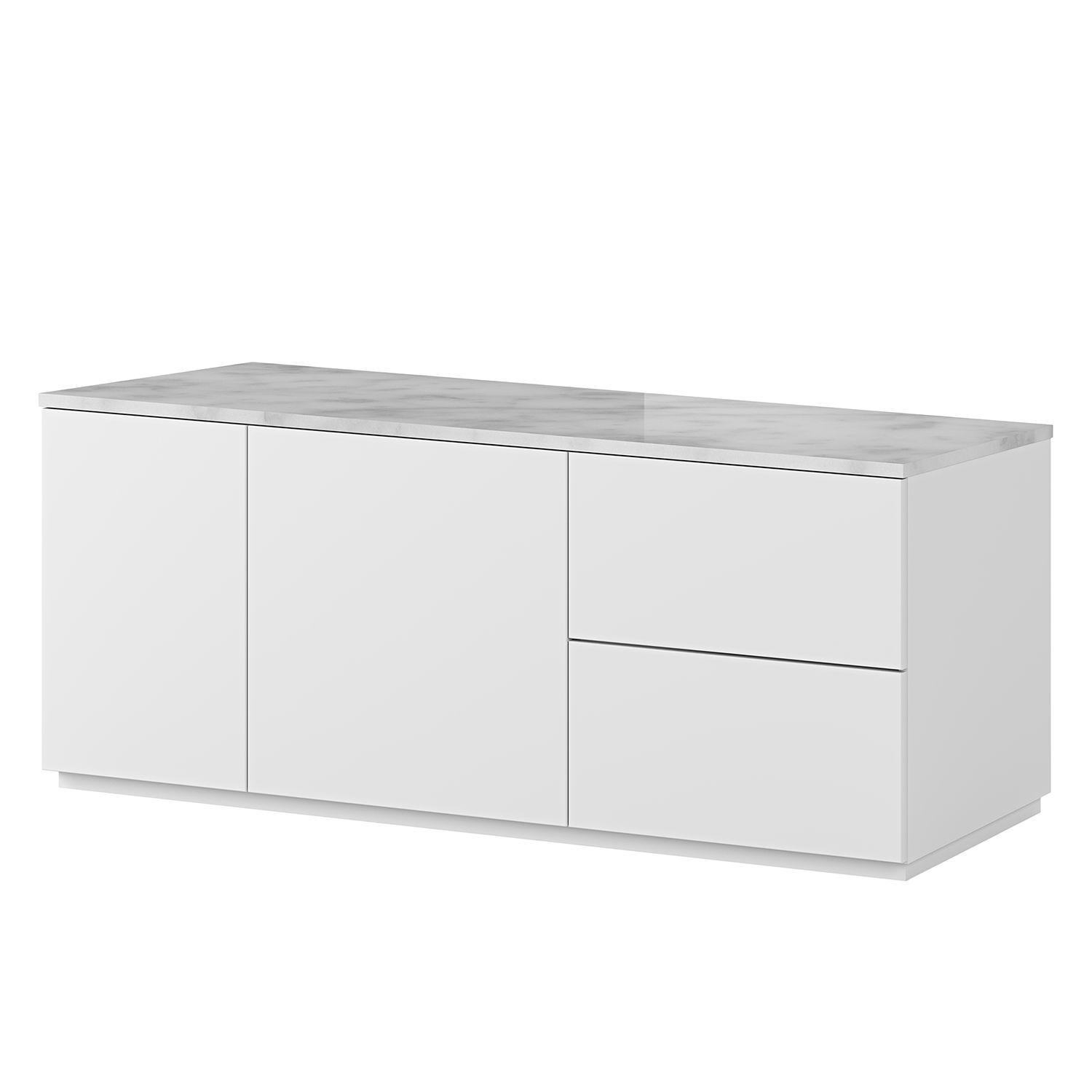 Sideboard Join I Sideboard Modern Hohes Sideboard Kommode Weiß Hochglanz