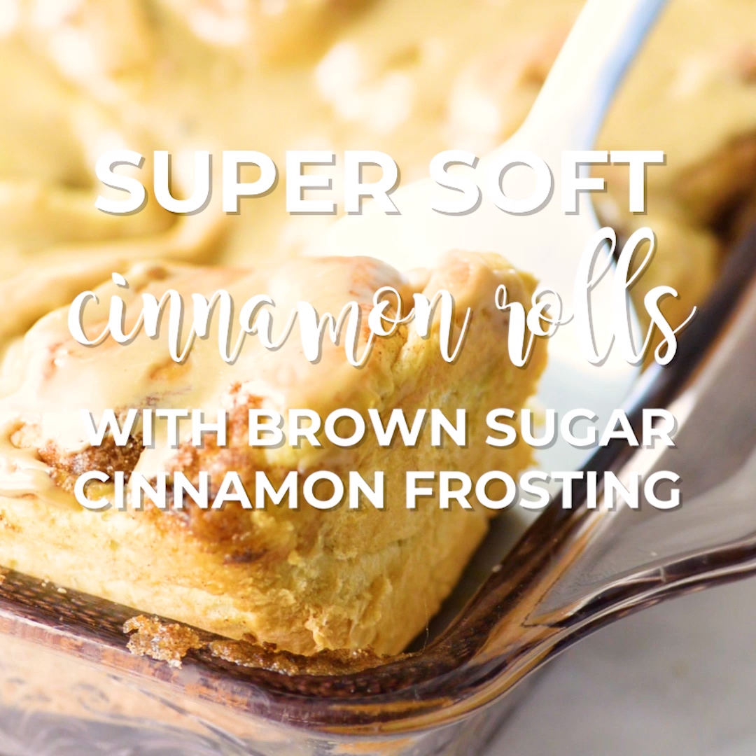 Super Soft Cinnamon Rolls With Brown Sugar Frosting