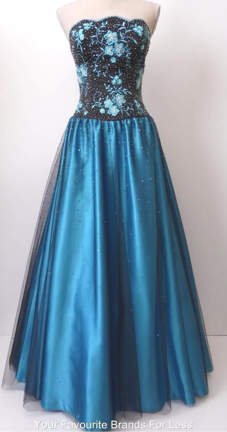 ALFRED ANGELO Strapless Beaded Evening Dress Size 8 - 10 US 4 - 6 ...