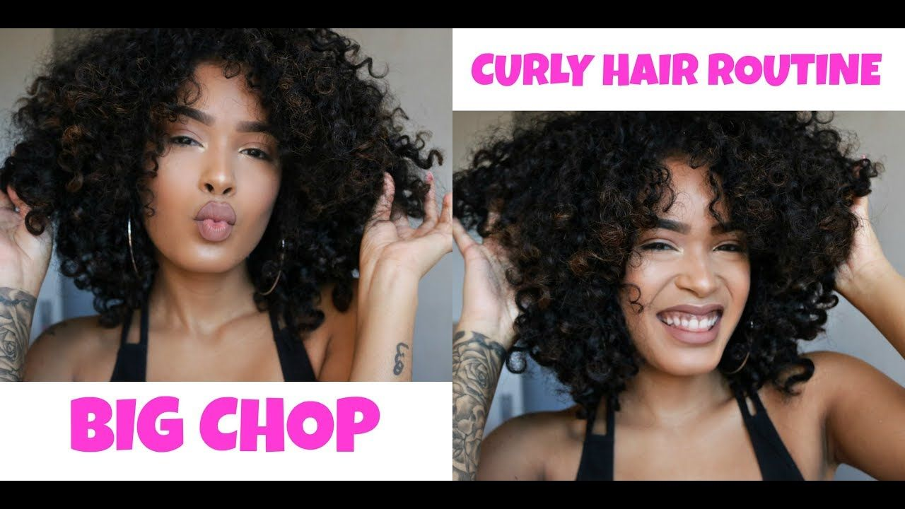 My Big Chop Hair Growth 3b 3c Curly Hair Routine Youtube