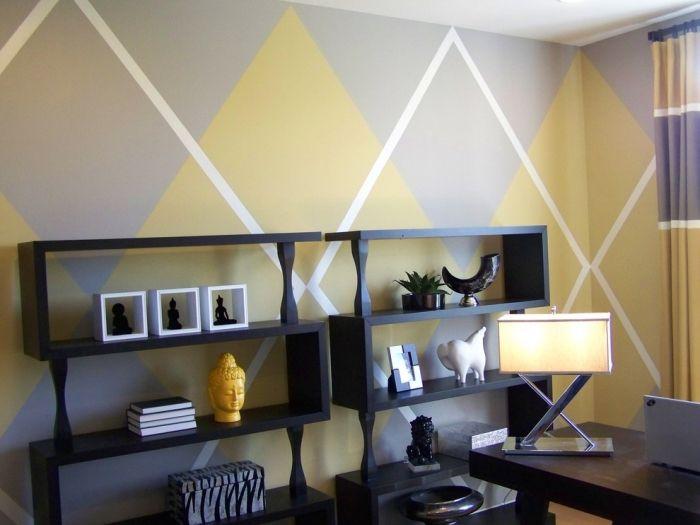 Wohnideen zum Streichen der Wände -farbig und kreativ in 2018 - wohnideen wohnzimmer streichen
