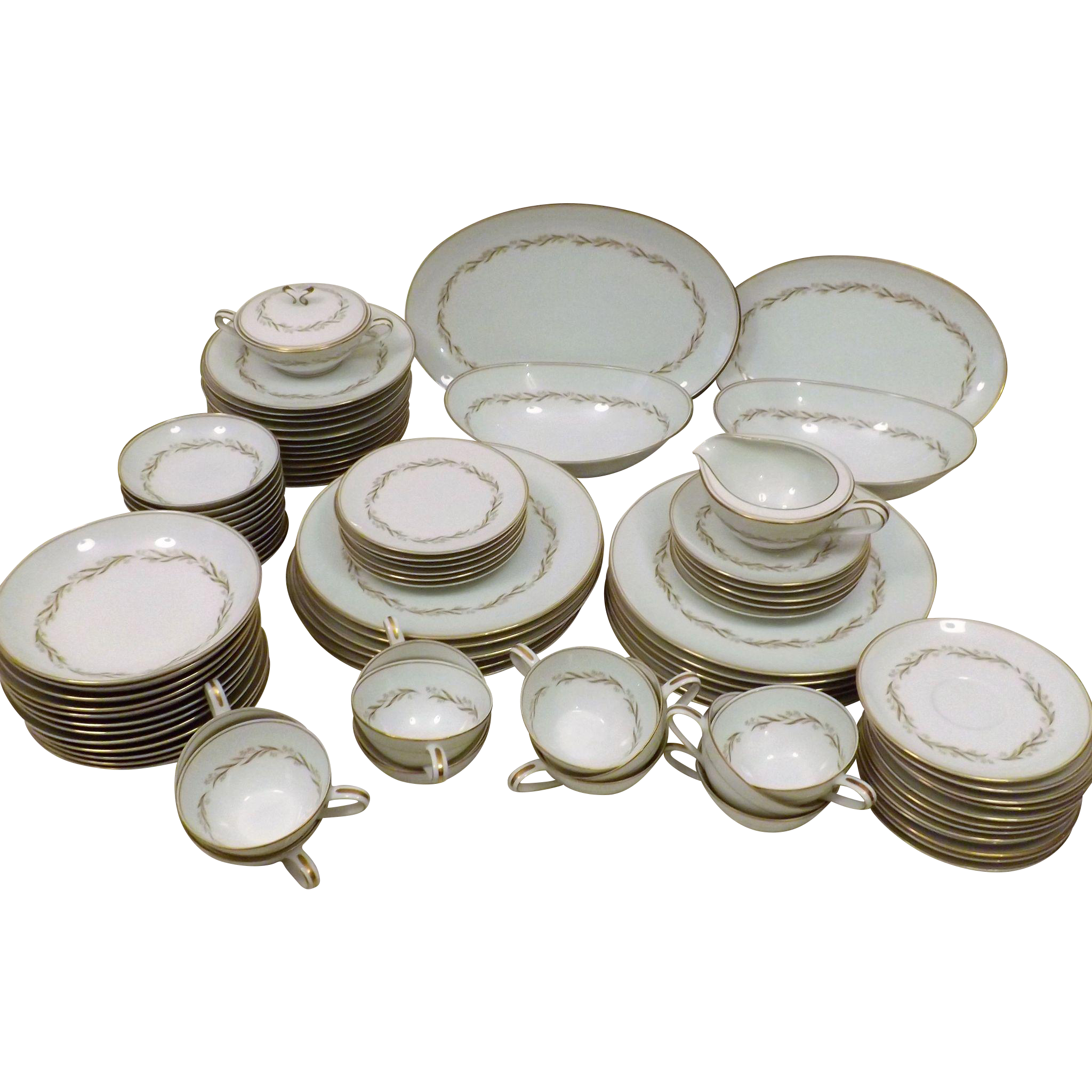 Kyoto 91 pc Japanese Fine China Dinnerware Set for 12 Royal Wheat 6062 | Products | Pinterest  sc 1 st  Pinterest & Kyoto 91 pc Japanese Fine China Dinnerware Set for 12 Royal Wheat ...