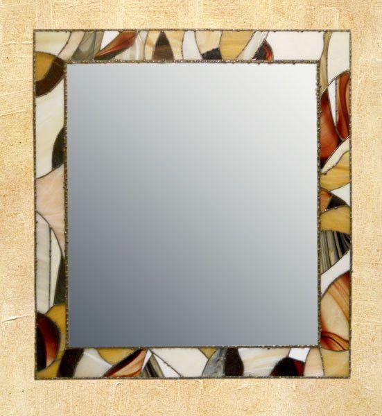 Купить Рама для зеркала - Витраж, зеркало, рама для зеркала, элемент интерьера, тиффани, для дома и интерьера