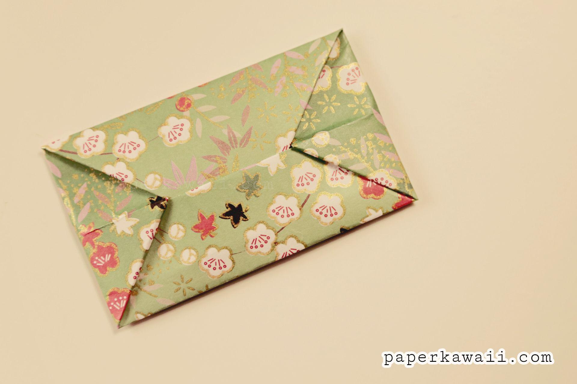 Easy Origami Envelope Tutorial | Origami envelope, Easy ... - photo#10