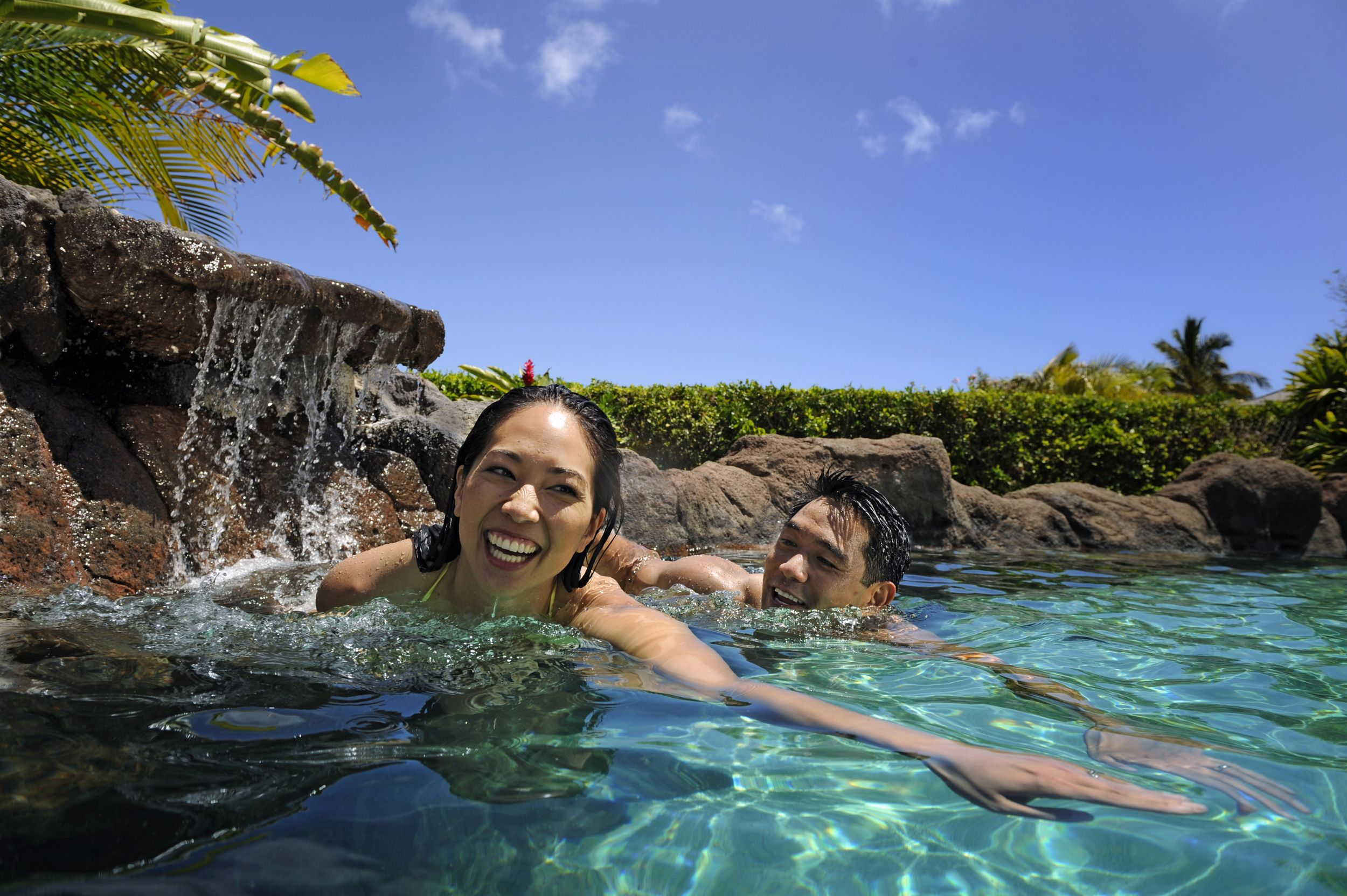 Fun and refreshment await you at waikolohe pool meaning mischievous water at aulani a - Define poolside ...