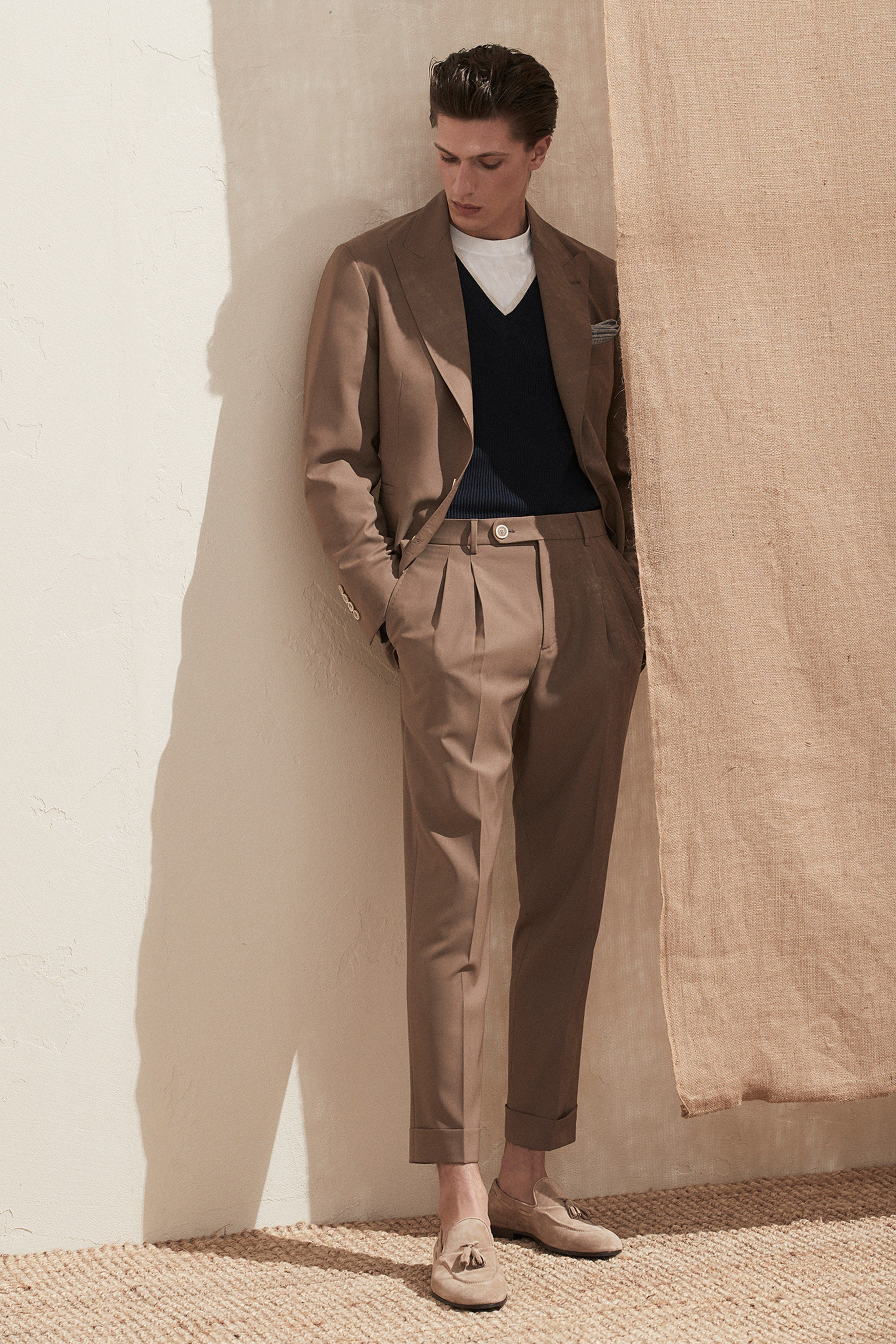 Brunello Cucinelli Spring 2020 Menswear Fashion Show Vintage Mens Fashion Mens Fashion Suits Suit Fashion