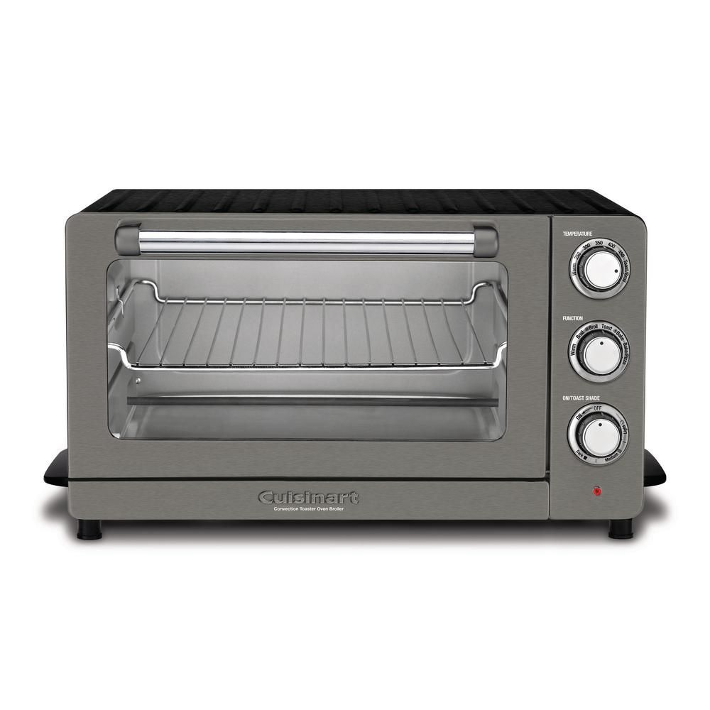 Cuisinart 1500 W 6 Slice Black Stainless Steel Convection Toaster Oven With Broiler Toaster Stainless Steel Toaster Countertop Oven