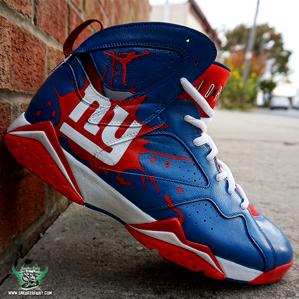 sneaker fairy fetti dbiasi custom sneakers jordan vii 7 marvin the martian ny  giants new york football nfl shoes blue red white patriots american america 4d188343d8cd