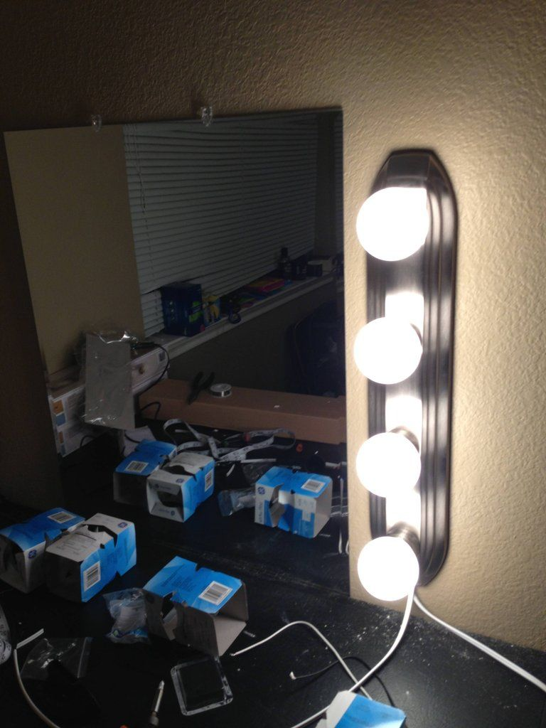 DIY Vanity Mirror And Lights Diy Vanity Mirror Vanities And Lights